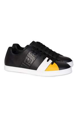FENDI FF Low-top Leather Sneakers