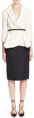 Women's Carolina Herrera Belted Silk Wrap Blouse $2,290 thestylecure.com