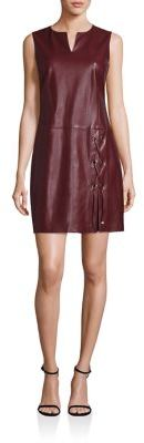 Laundry by Shelli Segal Faux Leather Lace-Up Shift Dress $225 thestylecure.com