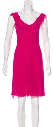 Emporio Armani Sheer Knee-Length Dress