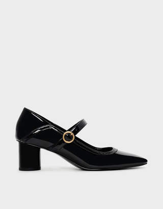 Charles & Keith Brogue Detail Mary Janes
