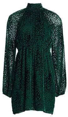 A.L.C. Nadia Velvet Burnout Mockneck Dress
