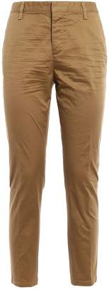DSQUARED2 Cotton Twill High Waisted Trousers