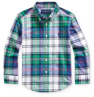 Ralph Lauren Boys' Plaid Stretch Button-Down Shirt - Little Kid