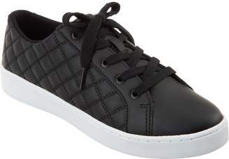 Isaac Mizrahi Live! SOHO Metallic Quilted Lace-Up Sneakers