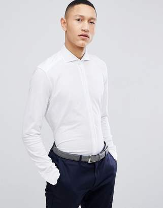 Reiss Smart Slim Shirt In White