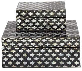 MOP Cole & Grey 2 Piece Decorative Inlay Box Set