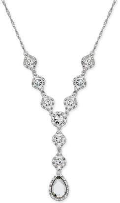 Charter Club Silver-Tone Crystal Y Necklace