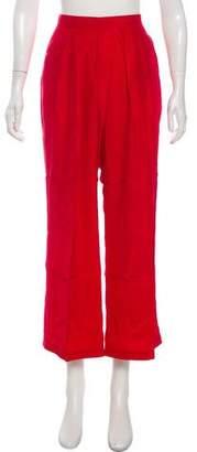 Piamita Penelope Silk Wide-Leg Pants w/ Tags