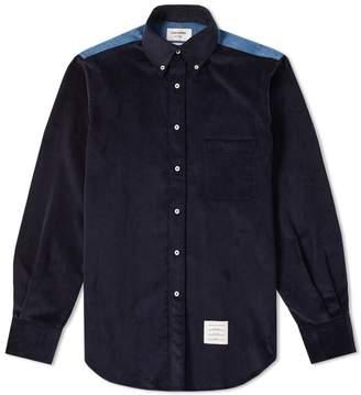 Thom Browne Contrast Yoke Corduroy Shirt