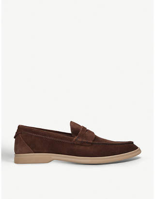 4abef78fac3 Brunello Cucinelli Suede penny loafers