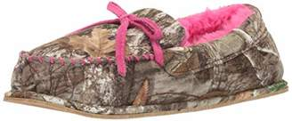Real Tree Women's Memory Foam Camo Moccasin House Slipper Indoor/Outdoor Pink Bow