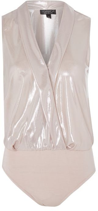 Topshop Topshop Sleeveless metallic drape body