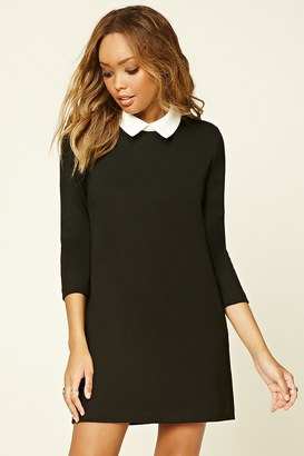 FOREVER 21 Contrast-Collared Shift Dress $19.90 thestylecure.com