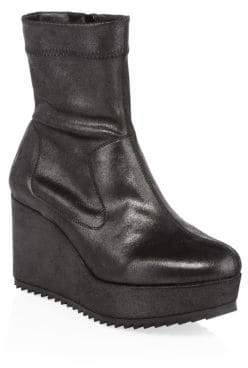 Pedro Garcia Urkia Metallic Wedge Booties