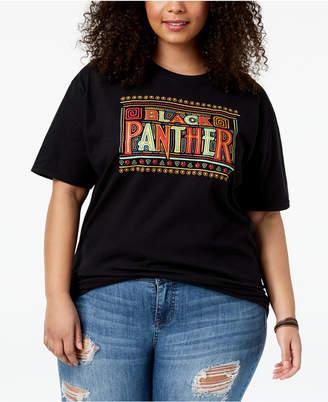 Hybrid Plus Size Black Panther T-Shirt