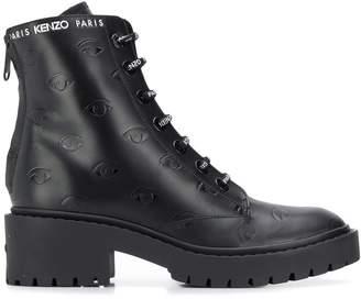 Kenzo Eye embossed ankle boots