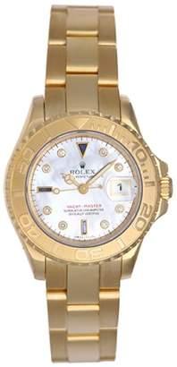 Rolex Yacht-Master 169628 18K Yellow Gold Automatic MOP Diamond Dial 29mm Womens Watch