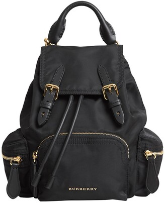 Burberry Small Rucksack Technical Nylon & Leather Backpack