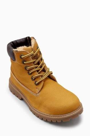 Boys Honey Work Boots (Older Boys) - Tan