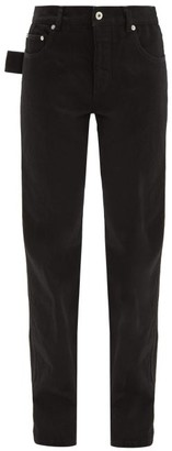 Bottega Veneta Low Rise Slouchy Fit Straight Leg Jeans - Womens - Black