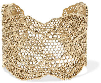 Aurelie Bidermann Lace Gold-plated Cuff
