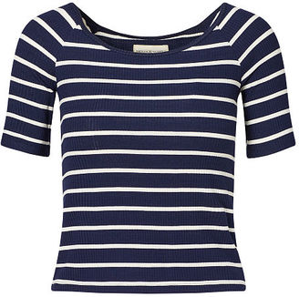 Ralph Lauren Denim & Supply Striped Stretch Jersey Top $69.50 thestylecure.com