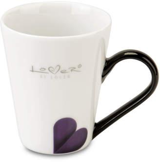 Berghoff Lover by Lover Porcelain Coffee Mug Pair - White/Black