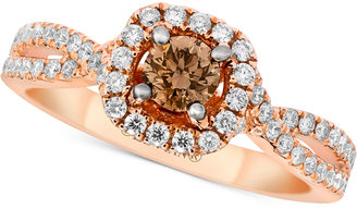 Le Vian® Bridal Diamond Engagment Ring (1-1/8 ct. t.w.) in 14k Rose Gold $8,325 thestylecure.com
