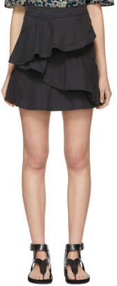 Etoile Isabel Marant Black Denim Coati Miniskirt