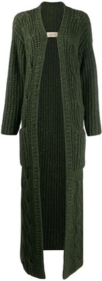Gentry Portofino chunky knit cashmere cardi-coat
