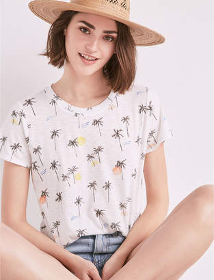 Lucky Brand SS ALL OVER PALM TREE TEE