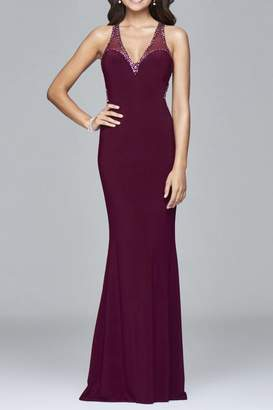Faviana Subtle Beaded Gown