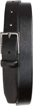 BOSS Stingray Embossed Patent Calfskin Leather Belt