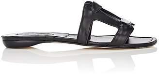 Manolo Blahnik Women's Grella Leather Slide Sandals
