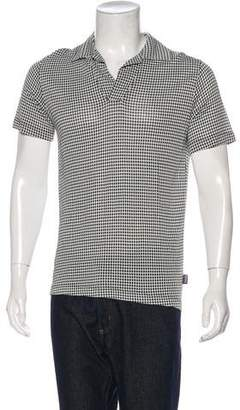 Versace Knit Patterned Polo Shirt