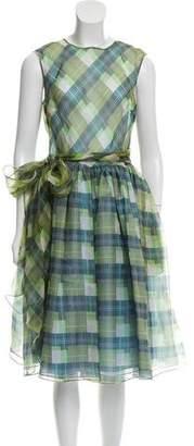 Dice Kayek Silk Plaid Dress w/ Tags