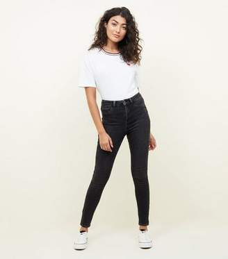 New Look Black Washed High Waist Super Skinny Hallie Jeans