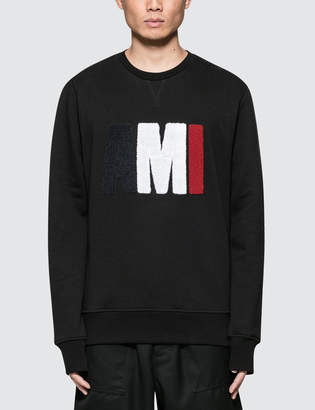 Ami Big Logo Crewneck Sweatshirt