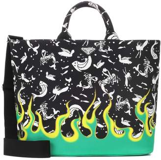 Prada Exclusive to Mytheresa printed canvas tote