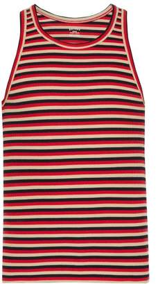 Holiday Boileau - Slim Fit Striped Stretch Cotton Jersey Tank Top - Mens - Red Multi