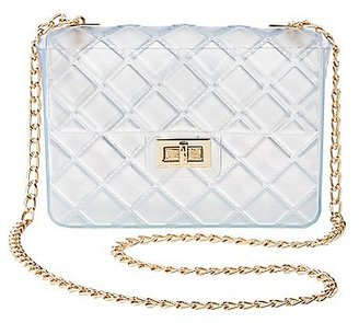 Clear Quilted Crossbody Bag $16.99 thestylecure.com