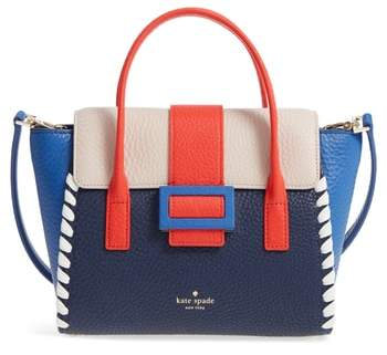 Kate Spade Carlyle Street - Small Alexa Leather Satchel - BLUE - STYLE