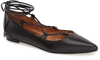 Halogen ® 'Owen' Pointy Toe Ghillie Flat $89.95 thestylecure.com