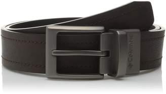 Columbia Men's Alphine 1 1/2 in.Reversible Logo Belt,Brown/Black