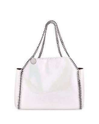 Stella McCartney Shaggy Deer Falabella Medium Iridescent Reversible Tote Bag