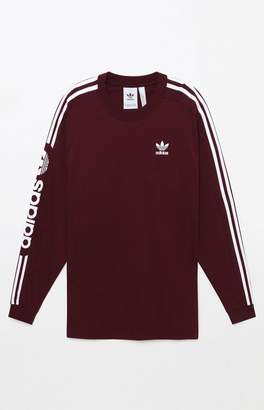 adidas Graphic Maroon Long Sleeve T-Shirt