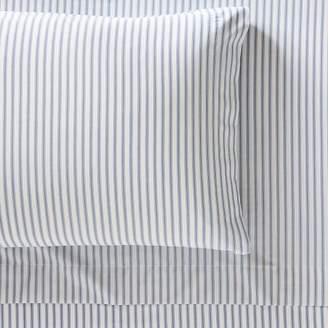 Pottery Barn Teen Organic Heritage Stripe Sheet Set, Twin/Twin XL, Navy