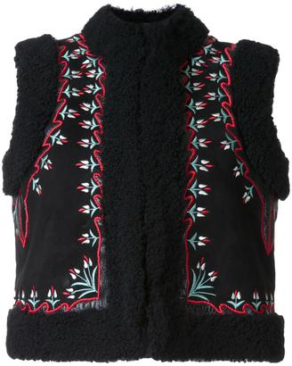 Vilshenko embroidered floral panel gilet $5,252 thestylecure.com