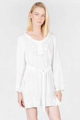 Monoreno Embroidered Belted Tunic
